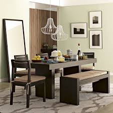 Wood Dining Table With Bench And Chairs Trendy Wire Accents For Your Home