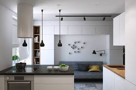 stylish kitchen functional modern small apartment in moscow with a stylish kitchen