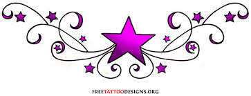 new black tribal and nautical star tattoo design for lowerback in