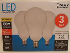Small Base Light Bulbs Feit Electric Led A15 60w Light Bulbs Ebay