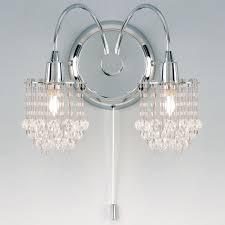 endon lighting 2 light wall light in crystal 850 2 u2013 next day