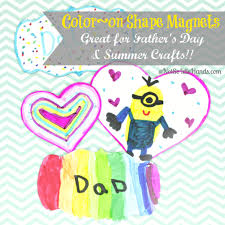 color on shape magnets father u0027s day u0026 summer kids craft