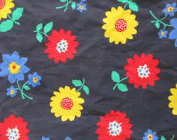 Vintage Drapery Fabric Vintage Curtains U0026 Window Treatments Etsy