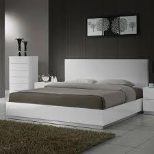 White Modern Platform Bed Modern Furniture Chicago - Contemporary furniture chicago