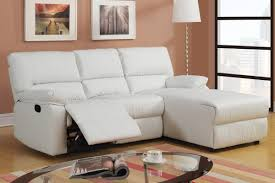 Leather Sectional Sofa With Chaise by Furniture White Leather Recliner Sectional Sofa With Chaise Under