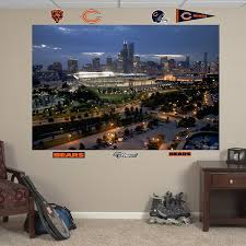 amazon com nfl chicago bears soldier field skyline mural wall amazon com nfl chicago bears soldier field skyline mural wall graphics sports fan wall banners sports outdoors