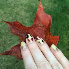fall nail art tutorial leaf it to me