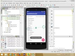 android radio button radiobutton exle with android studio