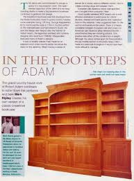 Fine Woodworking Bookshelf Plans by Classic Breakfront Bookcase Plans U2022 Woodarchivist