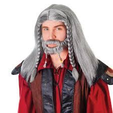 beard halloween costumes grey nordic viking celtic warrior beard u0026 wig mens fancy dress