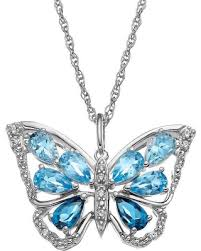 butterfly pendant necklace silver images Amazing deal blue topaz sterling silver butterfly pendant