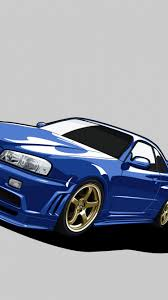 nissan skyline wallpaper for android download wallpaper 750x1334 nissan skyline gt r r34 gtr blue