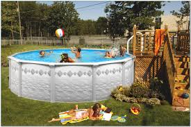 Small Backyard Above Ground Pool Ideas with Metal Pool Decks For Above Ground Pools Pools Home Decorating
