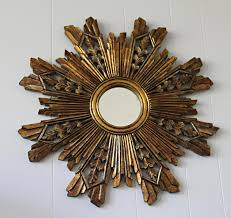 decorating gold sunburst mirror plus fireplace mantel kit and