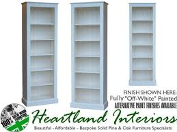 solid pine or oak 6ft x 2ft bookcase waxed painted or lacquered