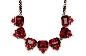 red necklace accessories images Red wedding accessories statement bridal necklace ruby gemstones jpg