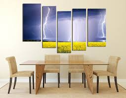 Dining Room Prints 5 Artwork Scenery Canvas Purple Canvas Wall