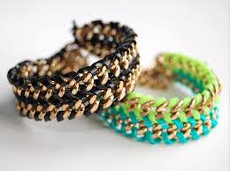 bracelet chain diy images Diy lanyard double chain bracelet wild amor png