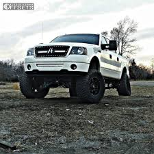 ford lifted wheel offset 2007 ford f 150 super aggressive 3 5 lifted 9 custom rims