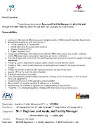 Facility Manager Resume Jose Varun Technical Assistant Facility Manager Resume
