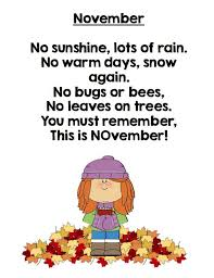 the 25 best november poem ideas on preschool