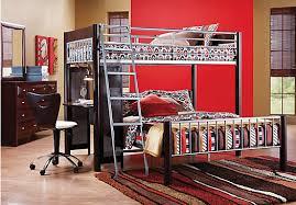 Room Merlot  Pc TwinTwin Loft Bedroom BunkLoft - Dorm bunk beds