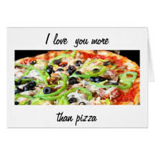pizza greeting cards zazzle