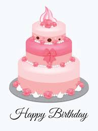 pink birthday cake card birthday u0026 greeting cards by davia