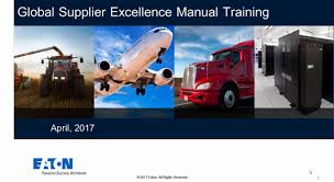 supplier excellence manual