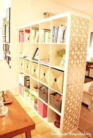 Ikea Room Divider Uk Bookcase Using Bookcase As Room Divider View In Gallery Open