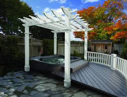Prefab Pergola Kits by Vinyl Spa Pergola Kit Pergola Diy