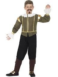 william shakespeare costume boys medieval fancy dress historical