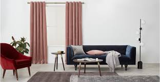 Soft Pink Curtains 2 X Julius Velvet Eyelet Lined Pair Of Curtains Soft Pink 168 X