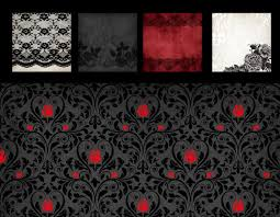 halloween colored scrapbooking background papers gothic rose digital paper rose lace black and red damask