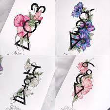 astrology tattoo design