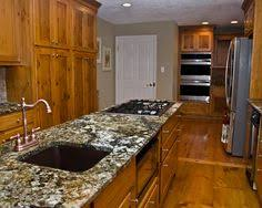 Kitchen Pine Cabinets Furniture Attractive Rustic Kitchen With Knotty Pine Cabinets