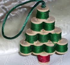 wooden sewing spool tree ornament i did this once but