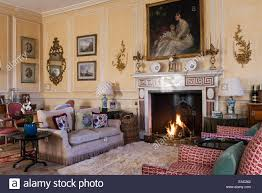 oil painting above fireplace in stock photos u0026 oil painting above