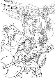 greek mythology coloring pages getcoloringpages com