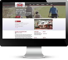 case study the hub bicycle shop web design development kitchener