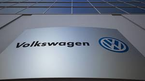 volkswagen wolfsburg emblem outdoor signage board with volkswagen logo modern office building