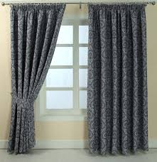 Grey And Purple Curtains Floral Pencil Pleat Fully Lined Jacquard Damask Curtains Blue Gold