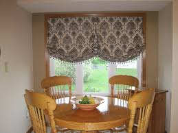 window treatments for bay windows in dining rooms balloon curtains for bay windows design interior home