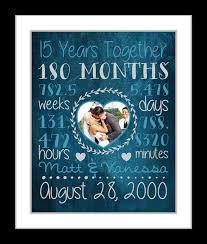 1st year anniversary gift ideas any or 15th anniversary gift for husband boyfriend