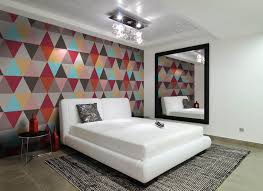 Modern Wallpaper For Bathrooms 15 Captivating Bedrooms With Geometric Wallpaper Ideas Rilane
