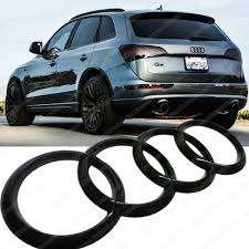 car rings images Mck auto 20010 car black glossy rear boot trunk badge rings logo jpg