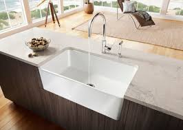 Kitchen  Modern Interior Contemporary Kitchen Design Feature - Square sinks kitchen