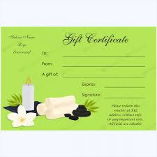 spa gift certificate templates 100 spa and saloon designs