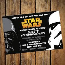 star wars invitations personalised birthday party invites