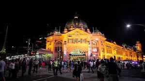 melbourne australia 1 jan 2012 view of crowded flinders street